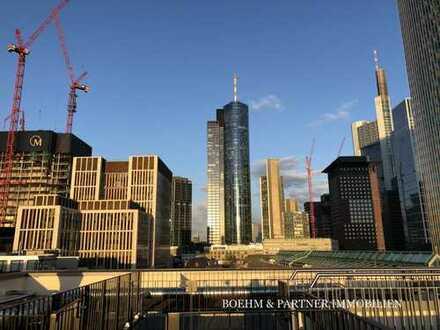 DESIGNERWOHNUNG mitten im BANKENVIERTEL: fantastischer Skylineblick, Dachterrasse, Erstbezug!