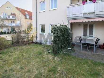 Gut geschnittene 3-Zi.-Wohnung mit Terrasse und Garten in ruhiger Lage von Coswig