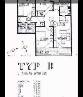 Schöne 4-Zimmer-Wohnung mit Balkon und Einbauküche in Würzburg