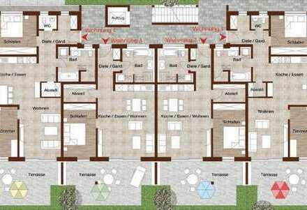 11_EI6380c Barrierefreie, 2- und 3 Zimmer-Neubau-Eigentumswohnungen in kleiner Einheit / Kelheim