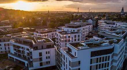 Neubau Wohnung! Fußbodenheizung, Dachterasse und Tageslichtbad