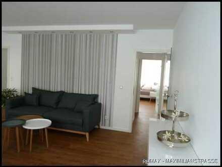 Elegante, komplett möblierte und ausgestattete 2-Zimmerwohnung mit Balkon!