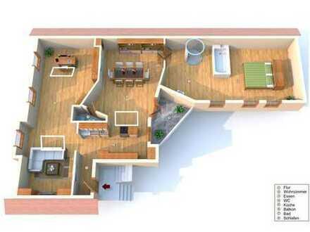 hell und individuell: 3 Zimmer incl. Bad und Küche mit Garage, Stellplatz, Terrasse