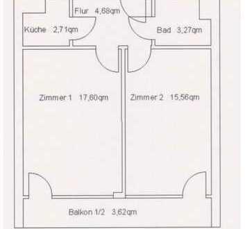 Top Lage! Zentral gelegene 2-Zimmer-Wohnung mit großem Balkon. Tiefgarage als Option