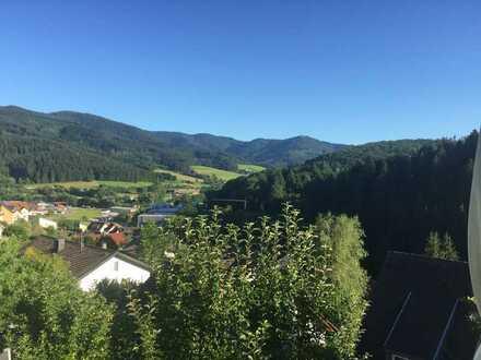 Elzach/Biederbach: Lichtvolle, gehobene 2-Zi.-Terrassenwohnung mit Panoramablick u. EBK