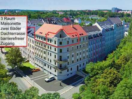 Eigentumswohnung in Chemnitz- Altendorf, Maisonette mit Dachterrasse und atemberaubender Aussicht