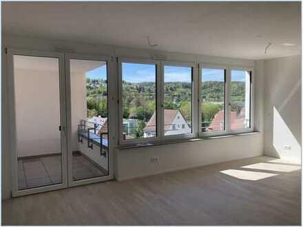 Erstbezug: moderne 3-Zimmer-Maisonette-Wohnung mit 2 Loggien in Tübingen-Weststadt