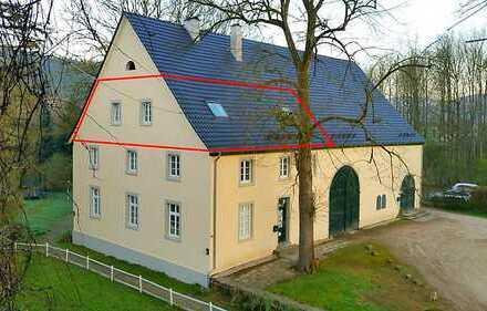 Großzügige 3-ZKDB-Dachgeschoss in historischem Forsthaus, Ortsrandlage