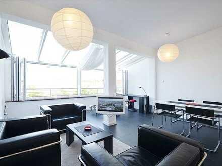 Exklusives, vollmöbliertes, lichtdurchflutetes, loftähnliches Apartment fußläufig zu BMW / München