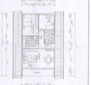 Preiswerte, gepflegte 3-Zimmer-Dachgeschosswohnung mit Balkon und Einbauküche in Antrifttal