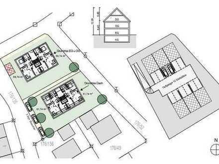 Grundstück in ruhiger Lage inkl. Baugenehmigung für 2 Baukörper + TG in Heberhausen/ Ampermoching