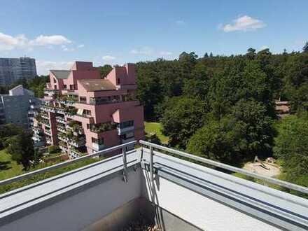 3-Zimmer-Maisionette-Wohnung mit grosser Dachterasse und Waldblick