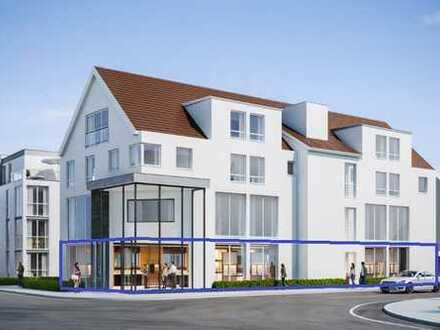 Neubau: Ladengeschäft mit großzügiger Schaufensterfront