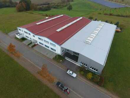 Raum Sinsheim/Mosbach - 3.600 m² Halle mit Büro zu verkaufen