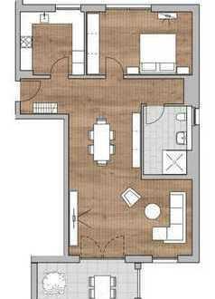 Im Bau: Große 2-Zimmer-Wohnung in Kenzinger Wohnanlage mit Wassergarten