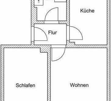 2-Raum-Wohnung im Stadtzentrum