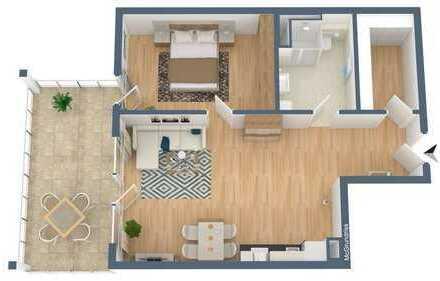 Stilvolle, geräumige 2-Zimmer-Neubauwohnung mit Balkon und EBK, Hamburg