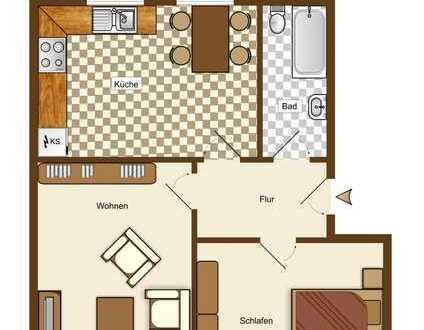 Schöne 2 Zimmer Erdgeschosswohnung in ruhiger Lage mit Solaranlage.