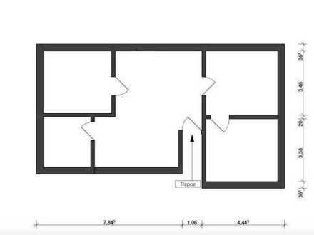 schön geschnittene zentrumsnahe 3-Zimmer Dachgeschoßwohnung in Hilden