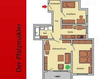 Wohnung in Landau mit Loggia - 3 Zimmer