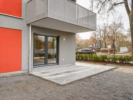 3 Zi EG mit 14m² Terrasse und ca. 60m² SnF Parkett Tiefgarage uvm.