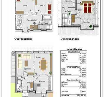 Erstbezug 5-Zimmer-Reihenhausartige 3-geschossige-Wohneinheiten