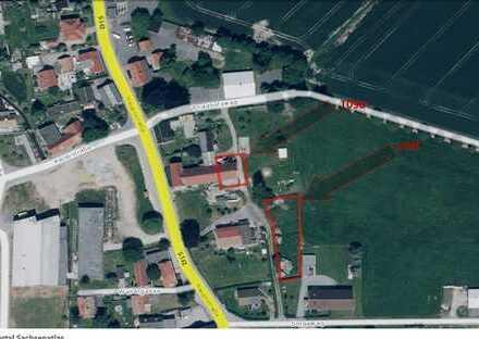 Bebaute Fläche sowie Grünfläche in Leutersdorf / Sachsen