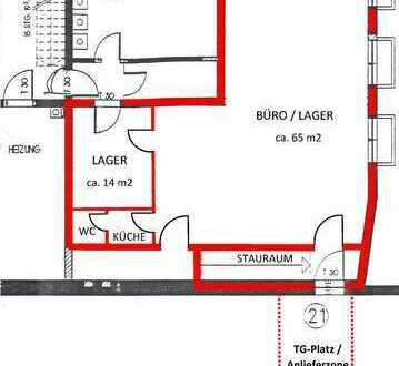 ca. 80 m2 Büro / Praxis / Handel & Verkauf Ladengeschäft mit TG-Anlieferzone