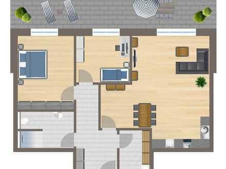 Wohnung Nr. 2 mit 97 m² Garten