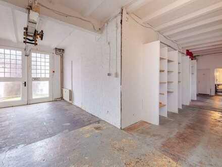 Ihre eigene Loftetage zur freien Gestaltung im Hinterhof-Fabrikgebäude!