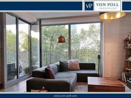 Wohnen am Main - Stilvolle Drei-Zimmer-Wohnung mit Blick ins Grüne