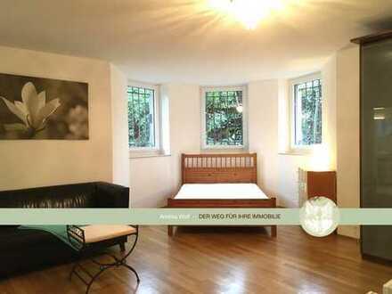 1 Zi.-Wohnung Souterrain in Jugendstilvilla, Traumlage, charmant und diskret gelegen, sehr gepflegt