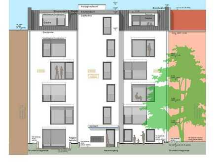 Baugrundstück und Baugenehmigung mit modernisiertes Altbau Mietshaus