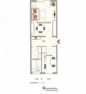 1-Zimmer-Wohnung der besonderen Art mit nostalgischer Ausstattung