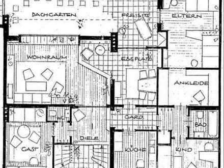 Wohnung 4-Zimmer (Penthouse) mit großer Dachterasse in Aachen Mitte für drei Jahre
