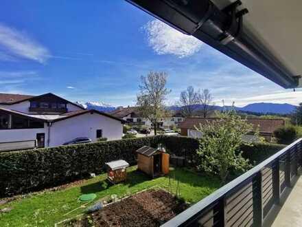 Murnau - ruhige und zentrale Wohnung mit zwei Balkonen und Bergblick