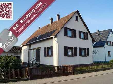 MIT 3D-TOUR! Liebenswert und Lebenswert! Gepflegtes 1-2 Familienhaus in Stutensee-Friedrichstal