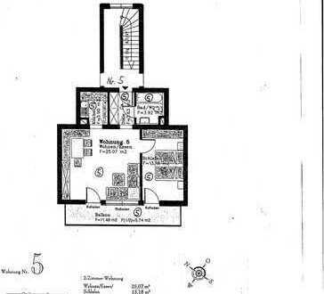 Sonnige, ruhige 2-Zimmer-Wohnung mit Süd-West-Balkon und EBK in Garmisch-Partenkirchen