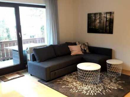 Schönes komplett ausgestattetes Apartment, großer Balkon, Tiefgarage!