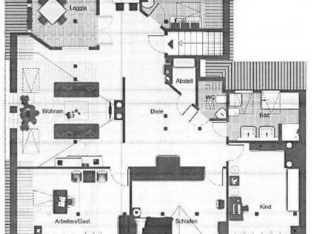 Hoch HINAUS?! Erstbezug - 4 Zi.-DG-Loggia-Wohnung mit ca. 140 m² Wohnfläche im Jugendstilhaus
