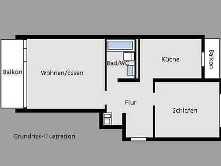 Vermietete 2-Zimmer-Hochparterrewohnung in Leonberg nahe des Stadtparks!