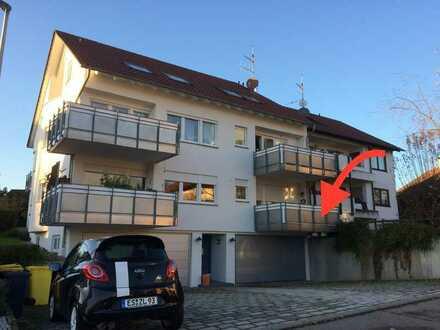 Hübsche 59 m2 Zweizimmerwohnung renoviert mit Küche nahe Winnenden Berglen Oppelsbohm frei ab 1.6.