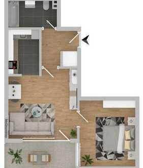 Preiswerte, gepflegte 2-Zimmer-Wohnung mit Balkon in Gronau (Westfalen)
