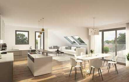 Großzügige 3,5 Zimmer Dachgeschosswohnung mit ca. 113 m² schöner Aussicht und Südausrichtung