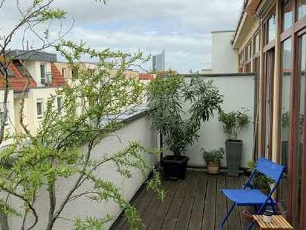 sehr schöne Dachgeschosswohnung mit 2 Terrassen in bester Wohnlage - Leipzig Südvorstadt