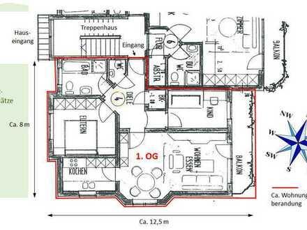 Sanierte 3-Raum-Wohnung mit Balkon in Sulzfeld