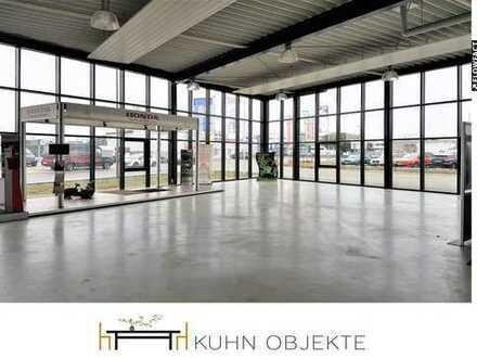 Gesuchtes Investitionsobjekt - Neuwertige Verkaufshalle mit Werkstatt-, Lager- und Bürofläche