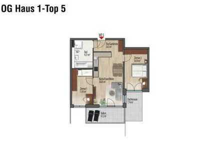 NEU modern + hell 3 Zimmer mit Dachterrasse + großem Süd-West-Balkon im 1. OG