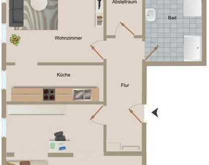 2-Raum-WE renoviert und zentral mit Stellplatz im Hof