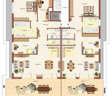 Penthouse grün - zentral - ruhig